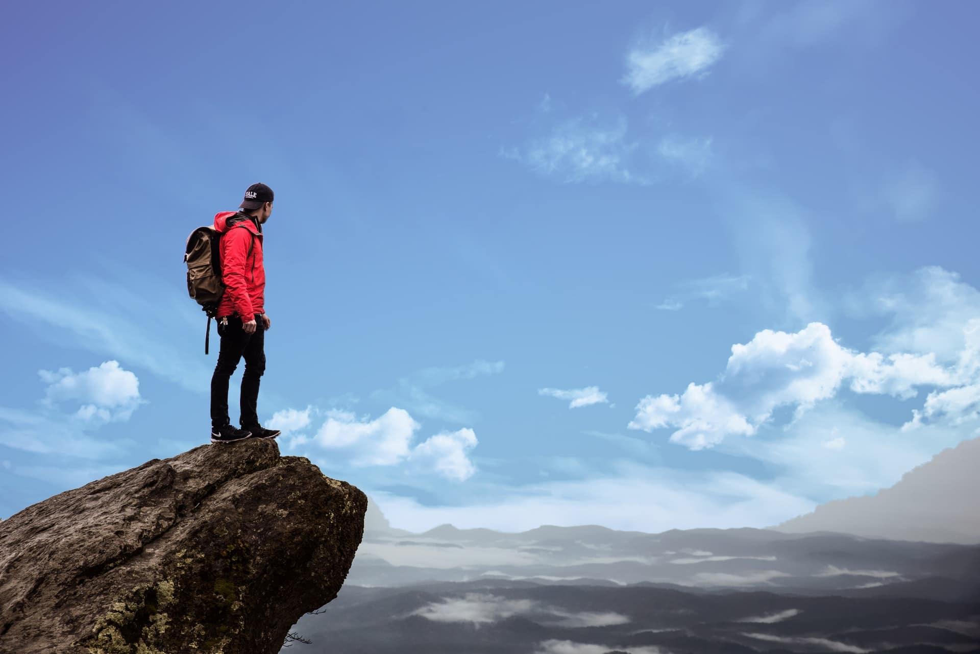 Visualisation Confiance en soi - Au sommet